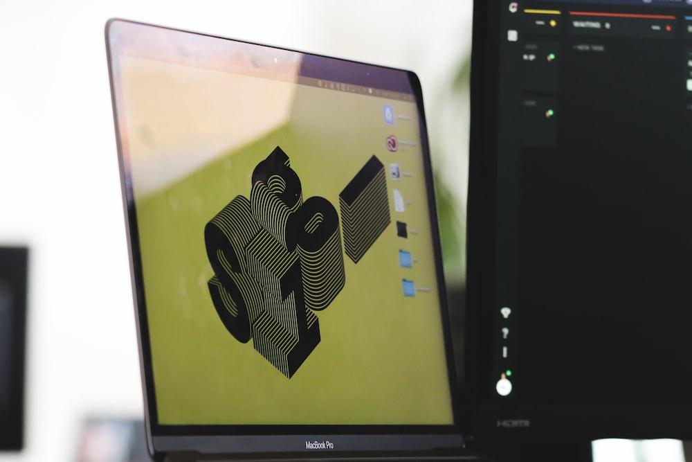 black samsung flat screen computer monitor