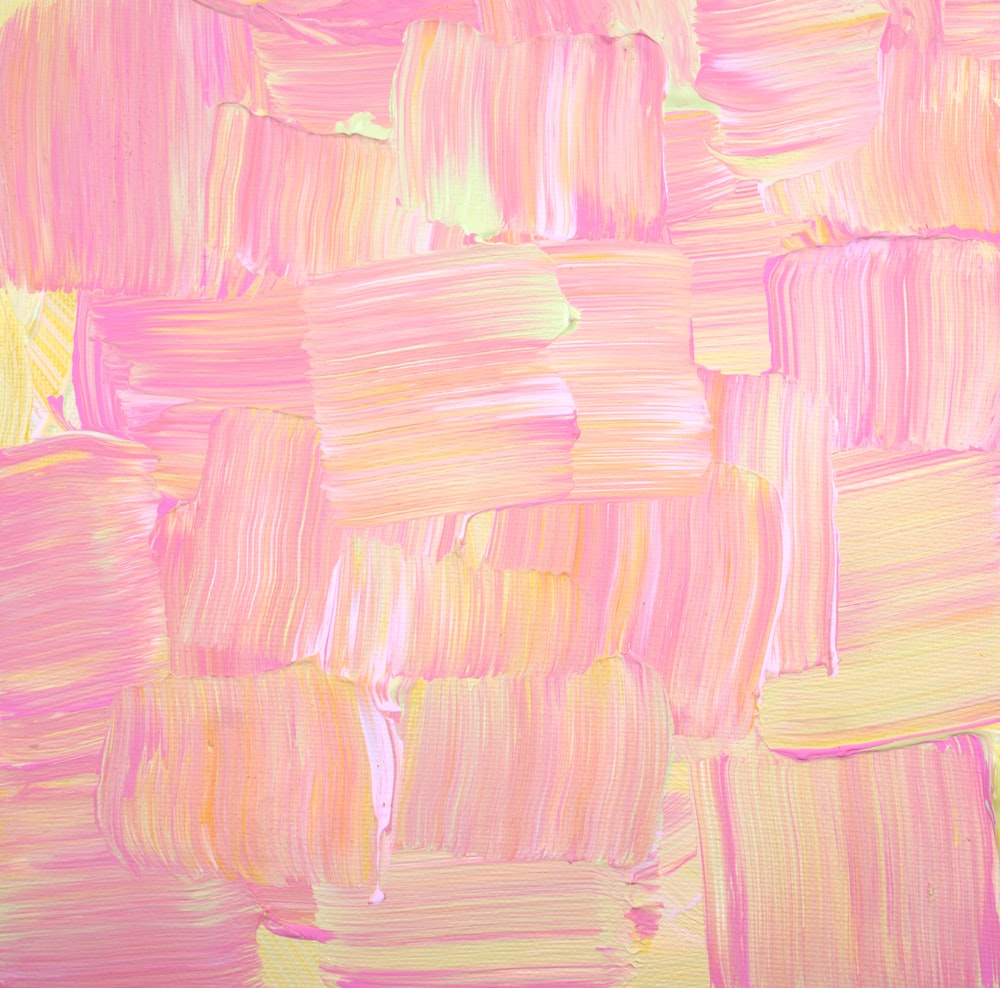 pink and green abstract painting