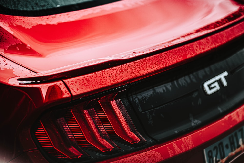 red and black car tail light