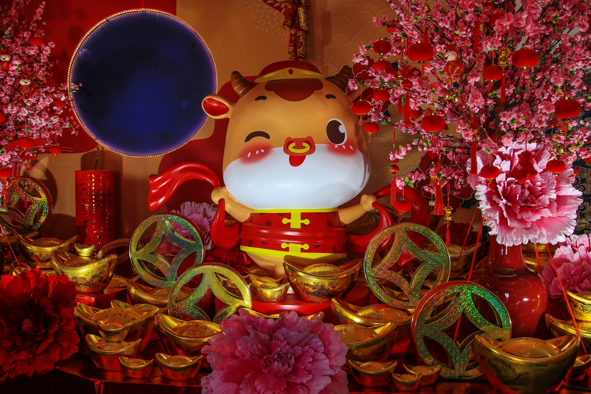 Chinese New Year decorations, Year of the Ox, Macau, China