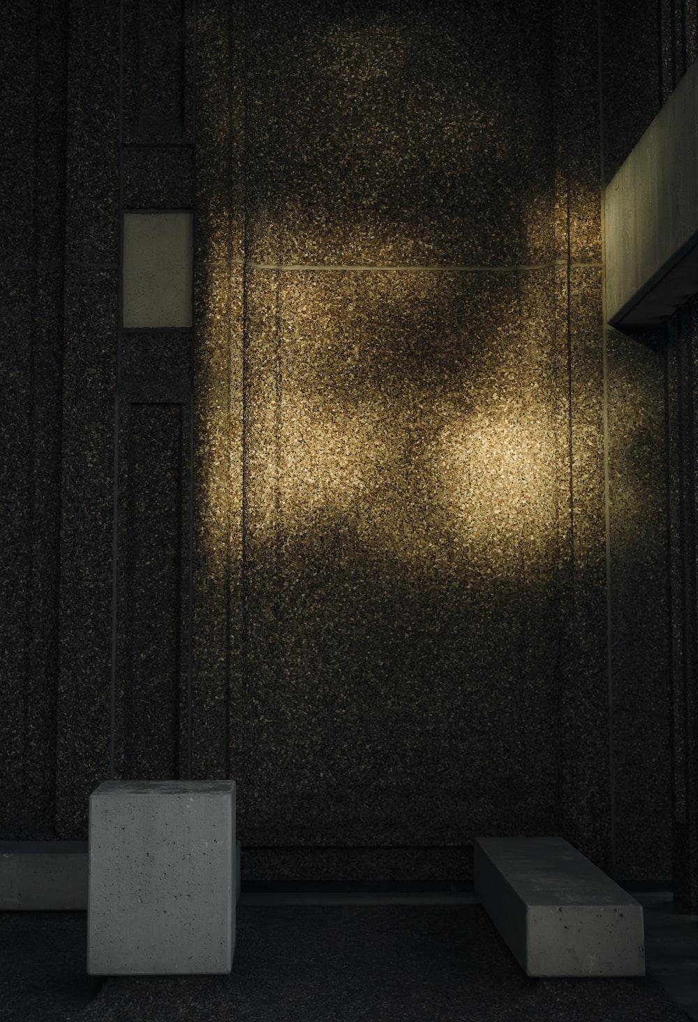 brown wooden door with gold colored door lever