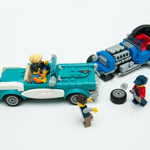 blue and black lego truck toy