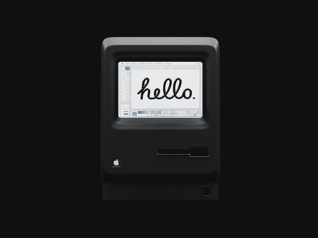 My 3d Illustration of Apple Macintosh 1984
