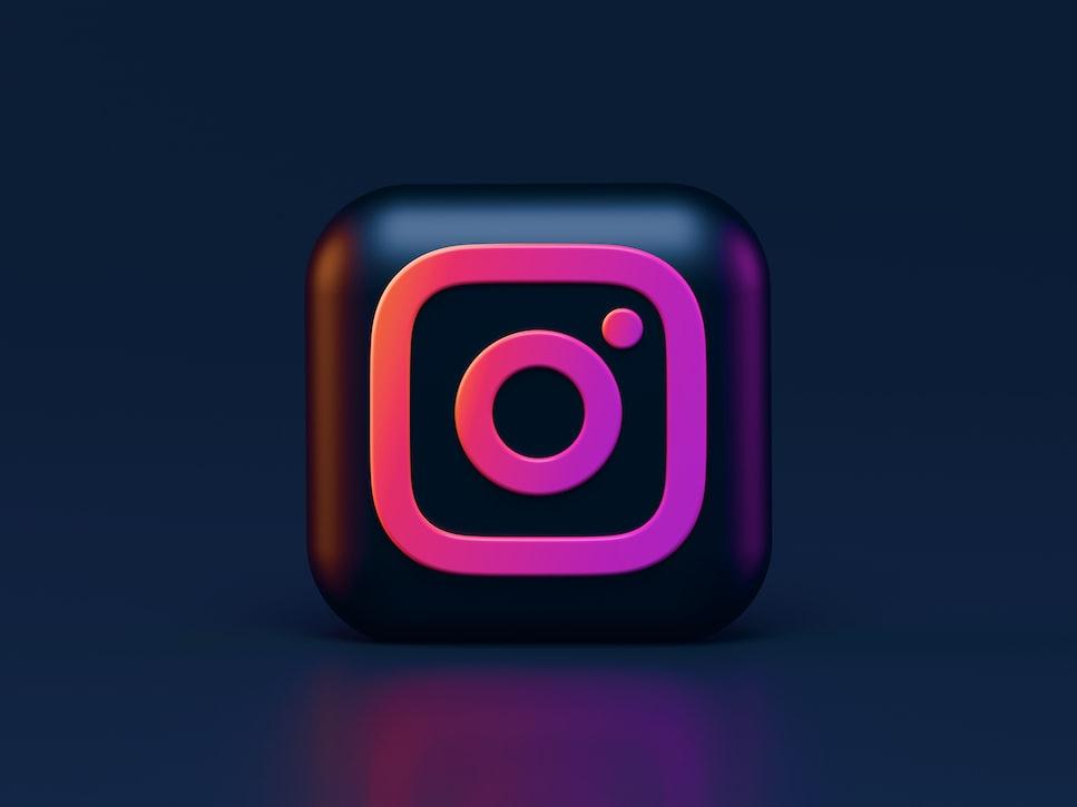 The logo of Instagram