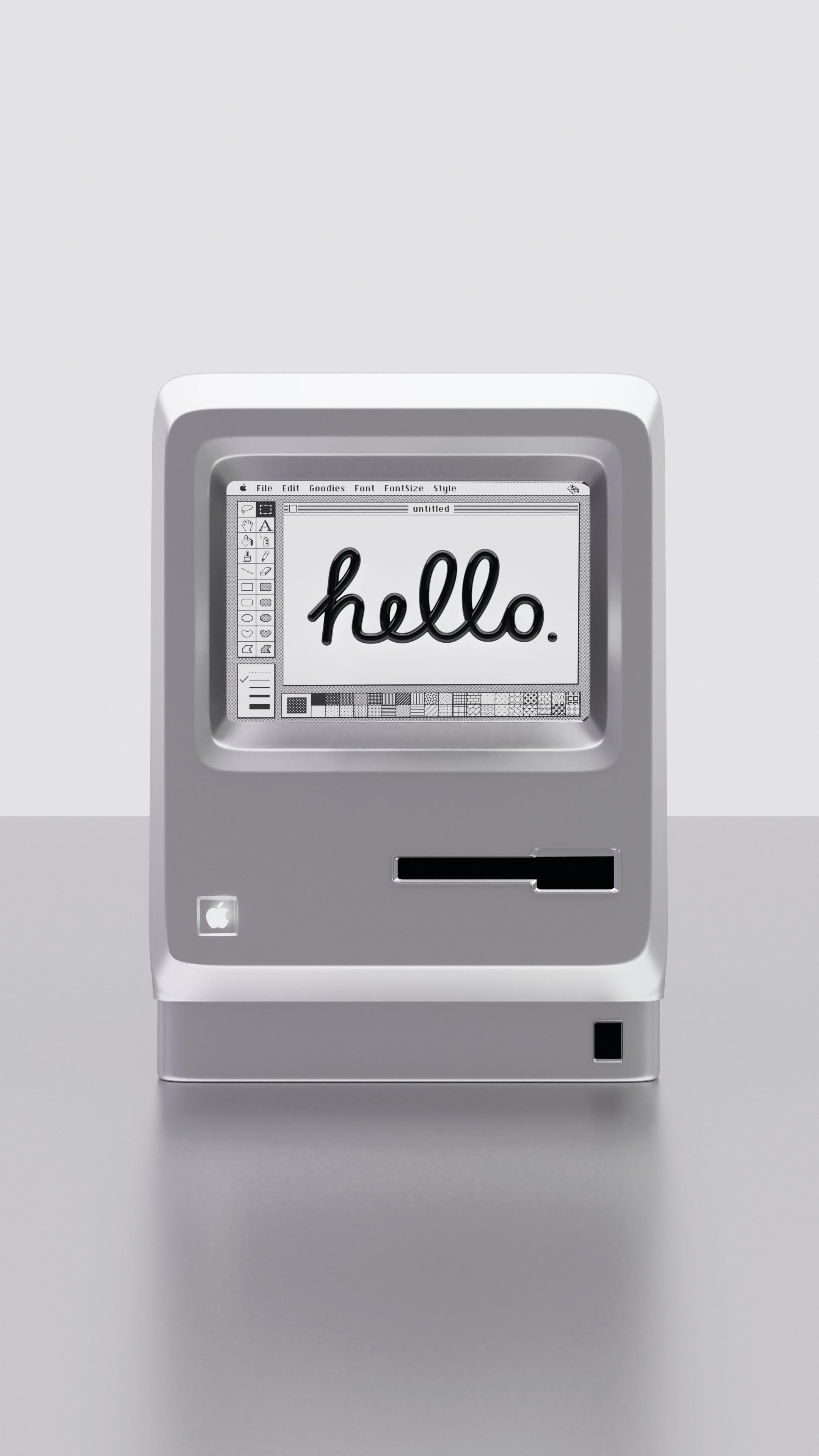 Apple Macintosh 1984 3D concept.