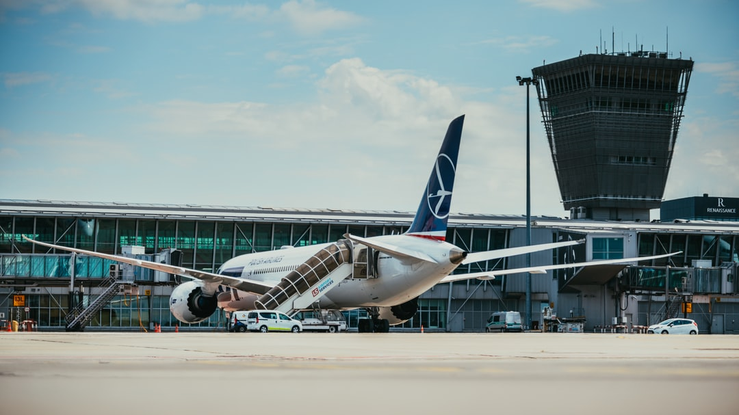 Get on the bus in Warsaw Chopin Airport