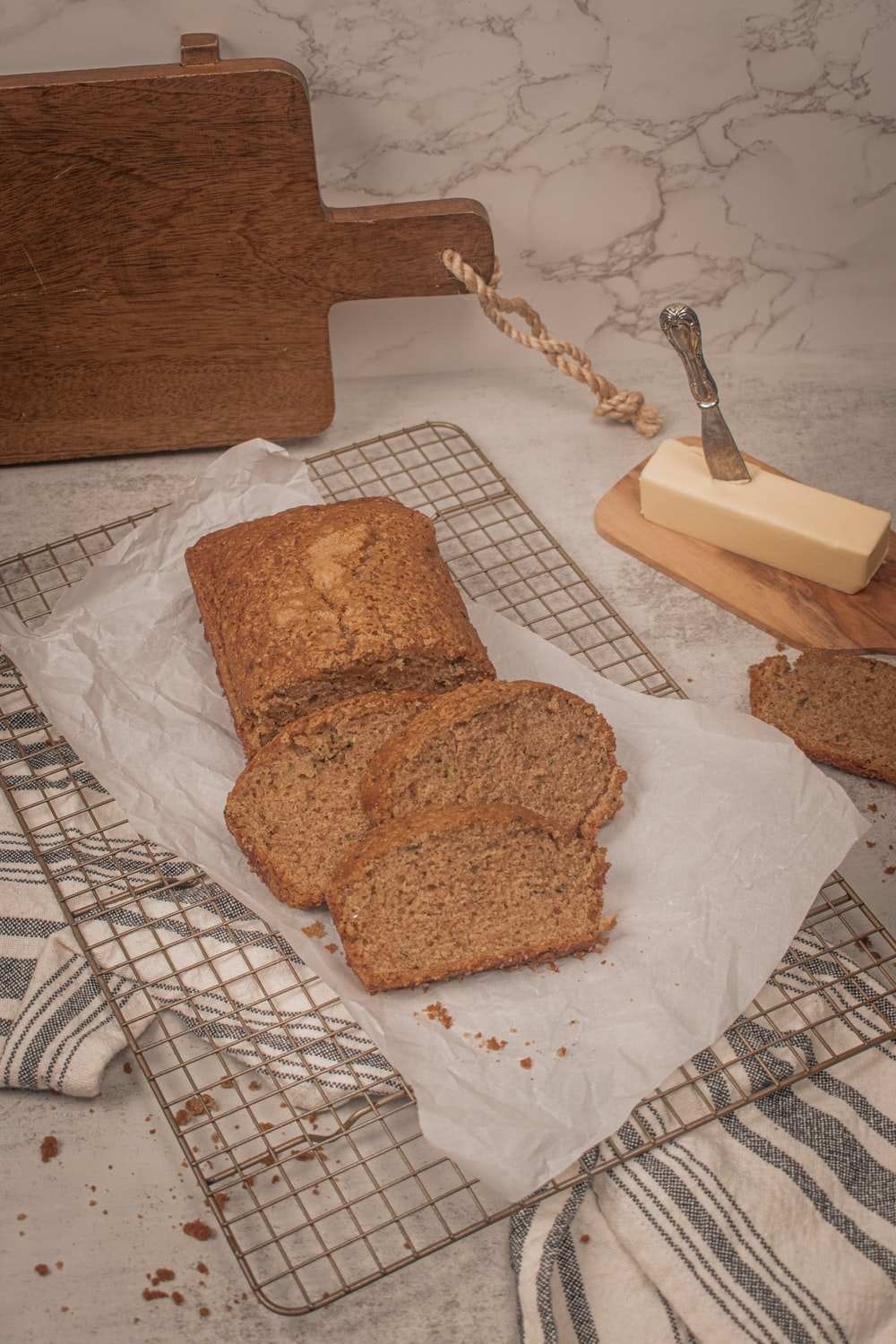 2 brown bread on white paper