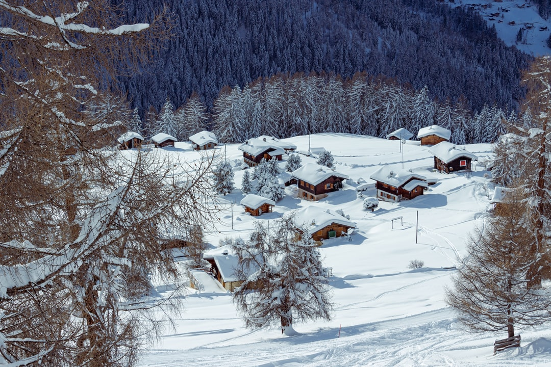 The Beautiful Snowcovered Village of Prarion - unsplash