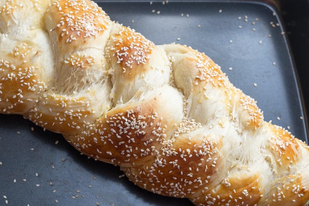 bread on black granite table