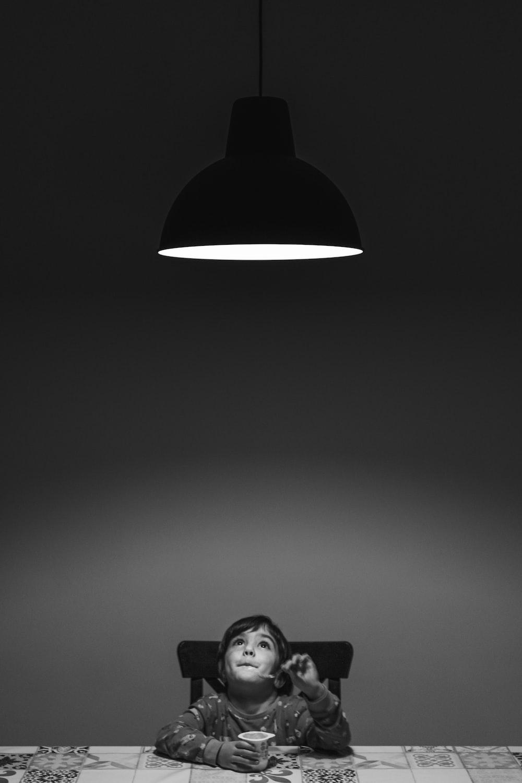 black and white pendant lamp
