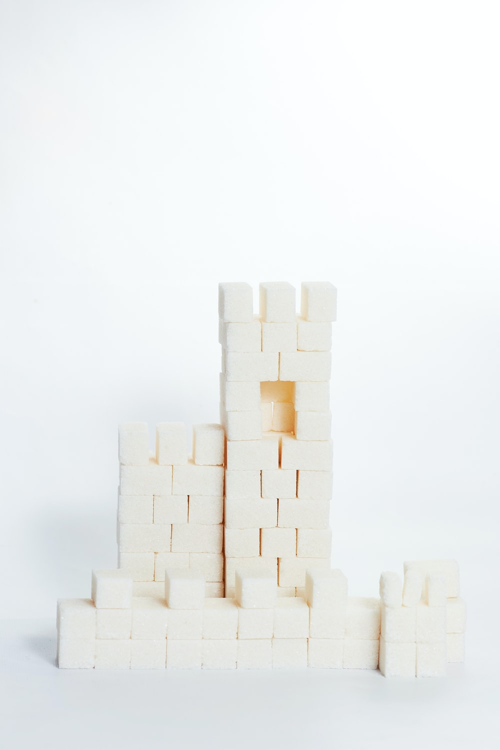 white blocks on white background