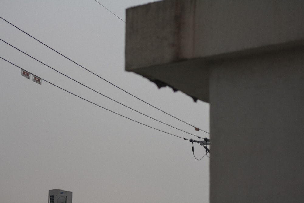 black electric cable on brown concrete wall