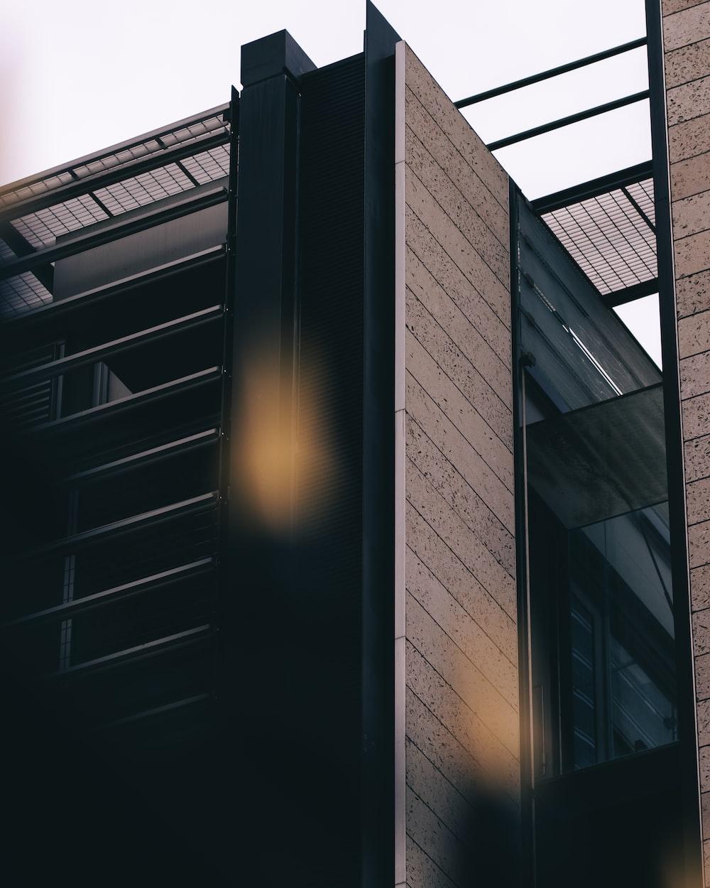 black and brown brick building