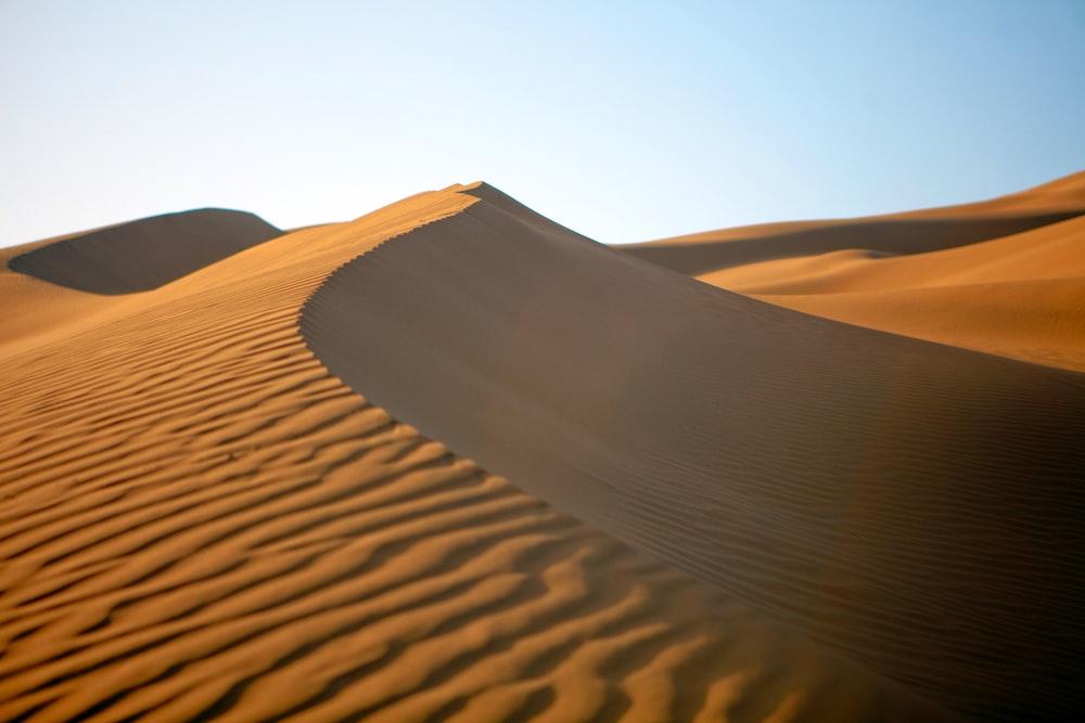 brown sand under blue sky during daytime