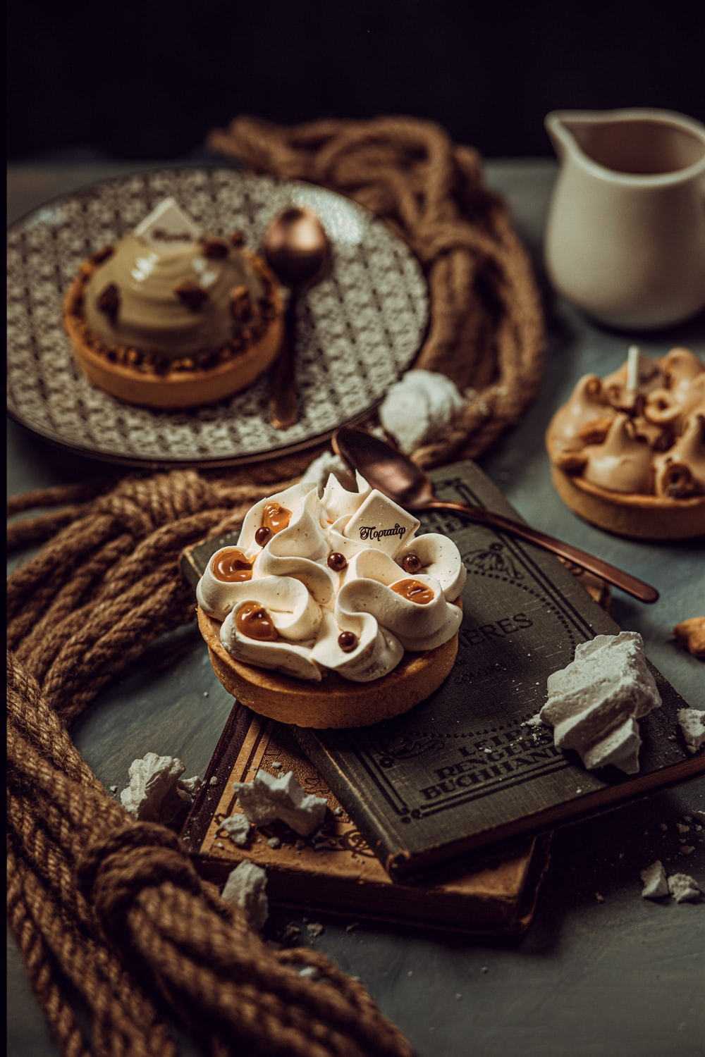 brown and white ceramic cup on brown wooden tray