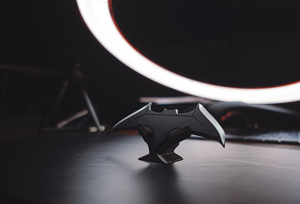 black and silver star ornament