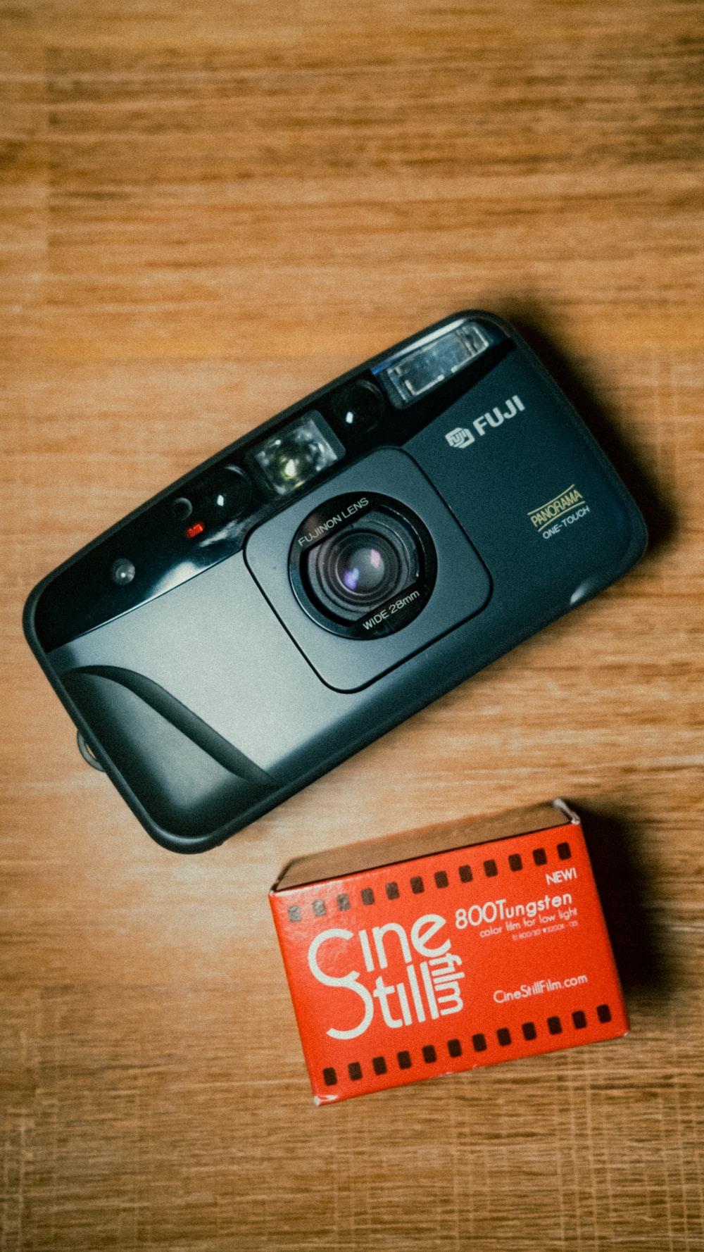 black sony point and shoot camera