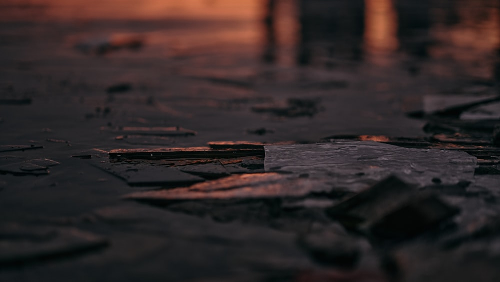 brown wooden dock on water during sunset