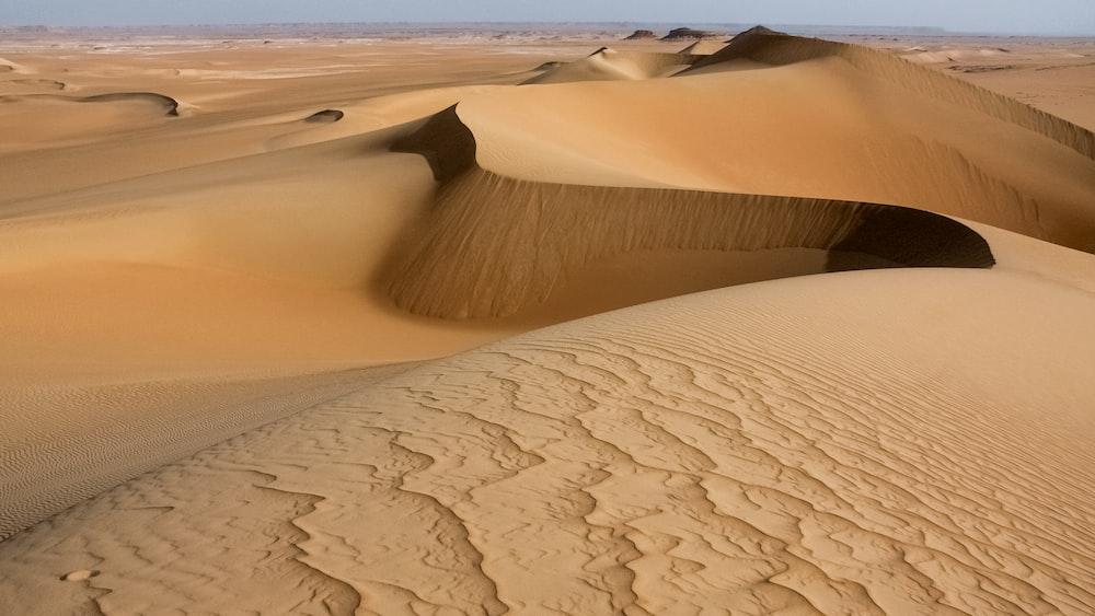 brown sand dunes during daytime