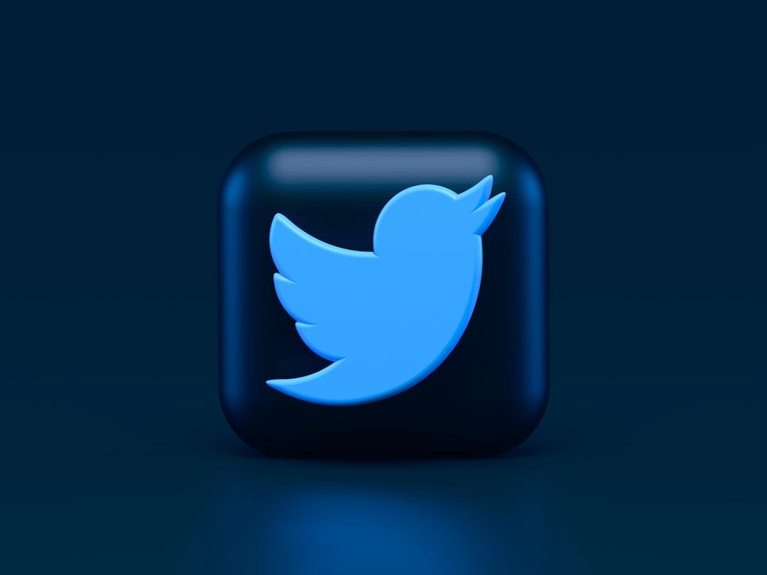 Twitter 3d Icon Concept. Dark Mode Style 🖤