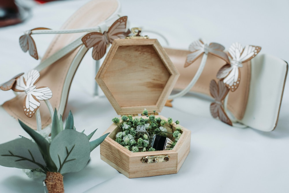 green plant on brown wooden box