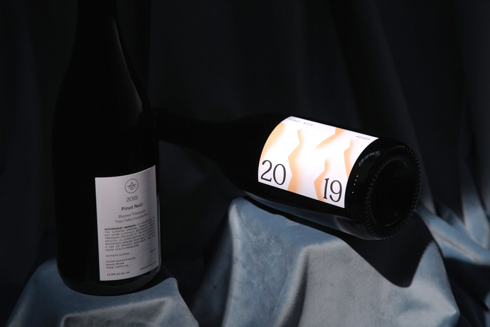 black and white labeled bottle