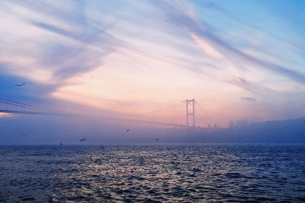 bridge over the sea during daytime