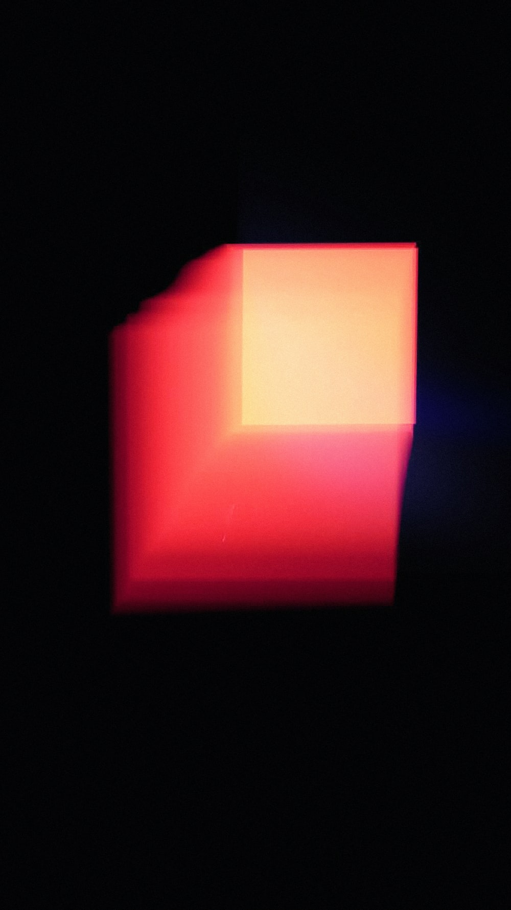 red and yellow square shape light