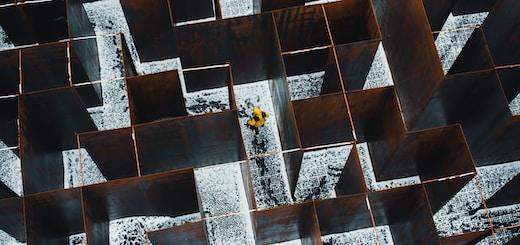 white and brown concrete blocks