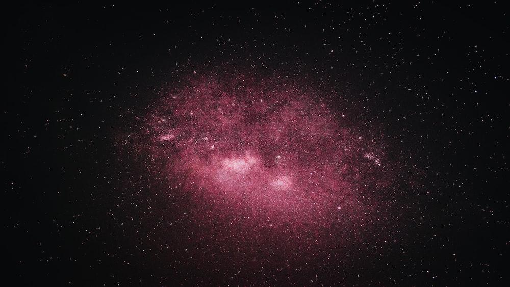 purple and black starry night