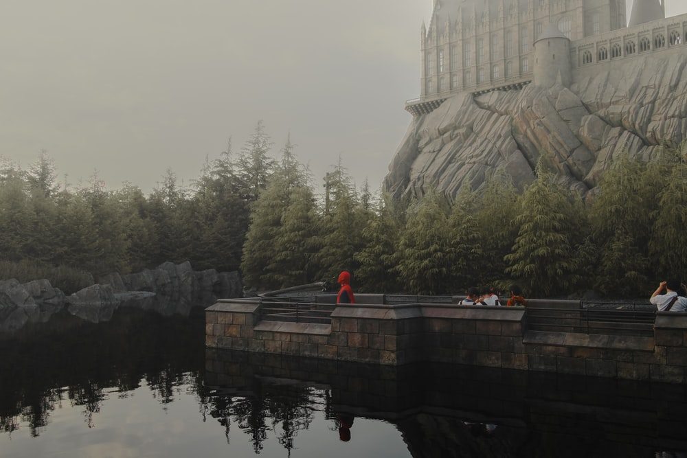 man in red jacket standing on dock during daytime