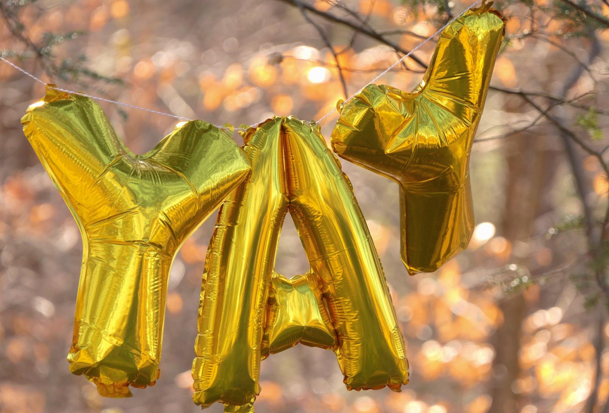 YAY celebrating hope and newness