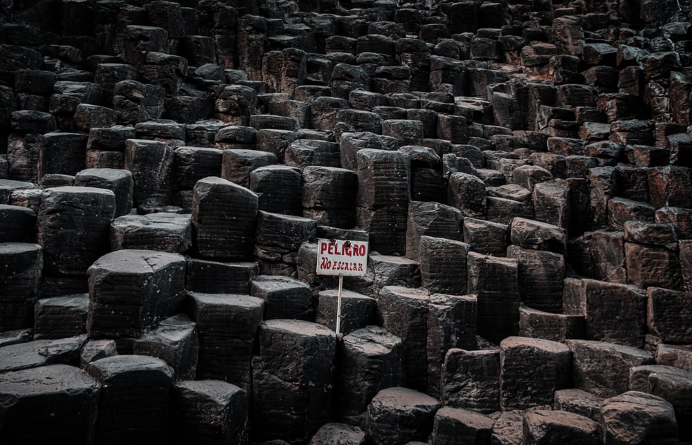 black and brown concrete blocks