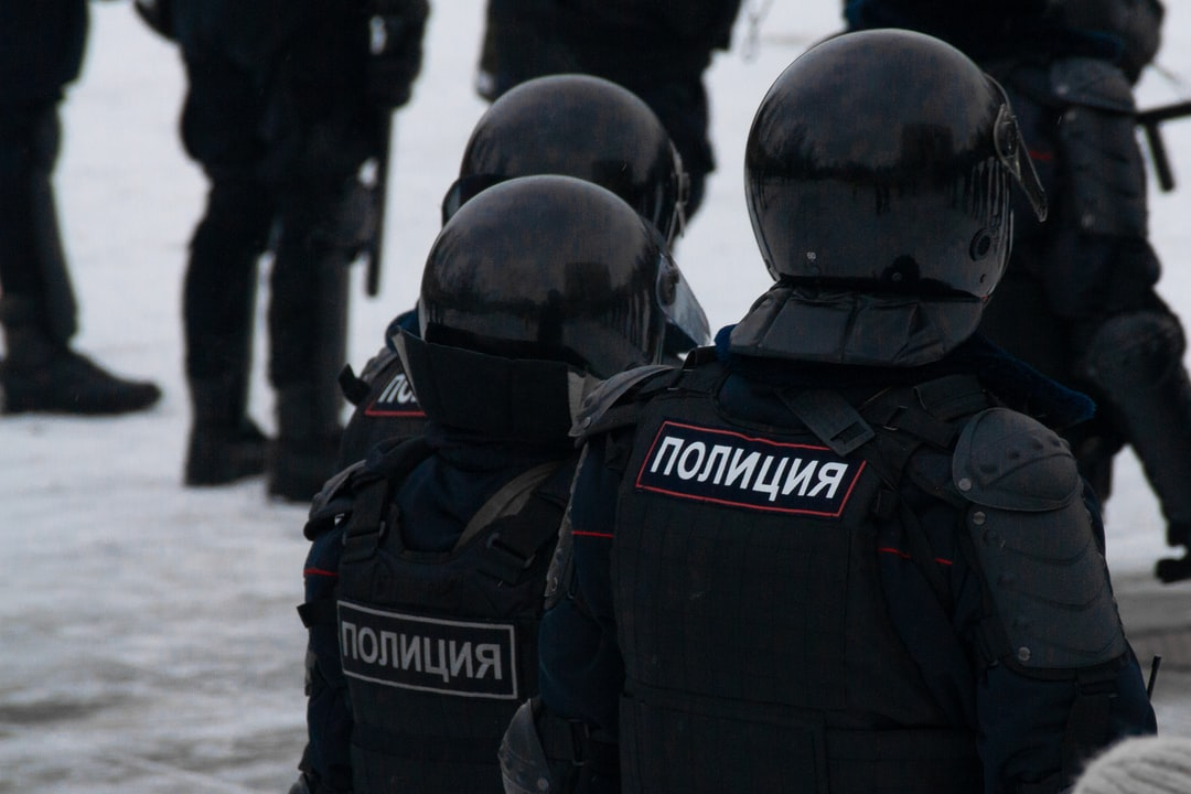 Protest against illegal arrest of Russian opposition leader Alexey Navalny