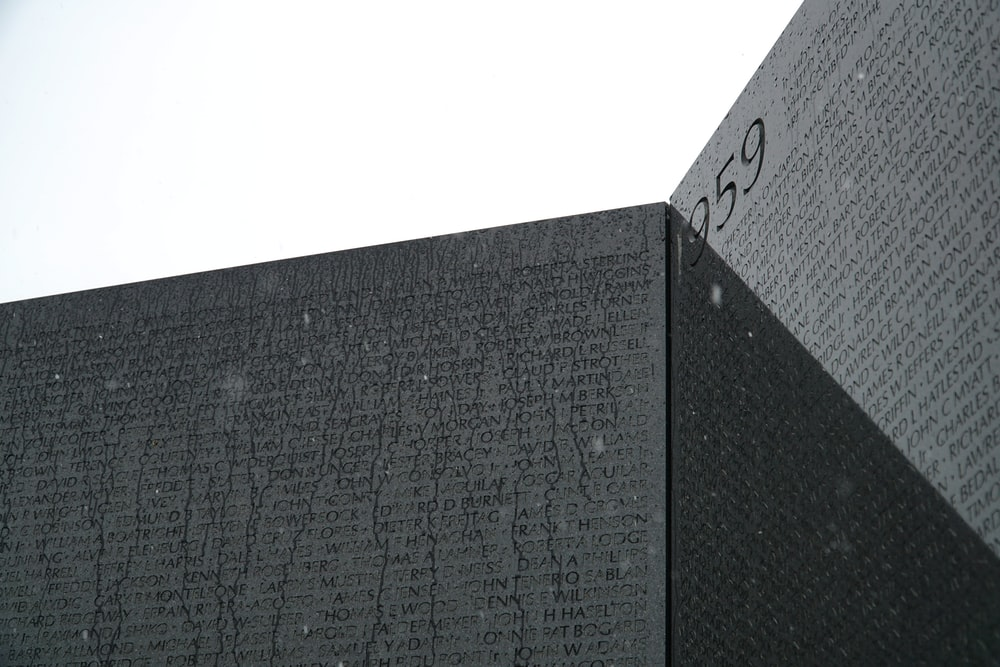 black and gray concrete wall