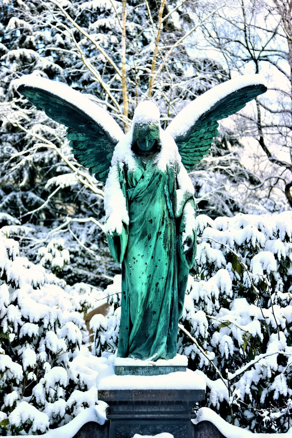 statue of liberty in the woods