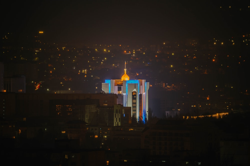 white and gold cathedral during night time