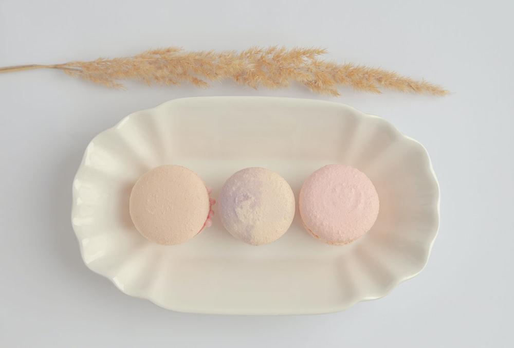 white egg on white ceramic plate