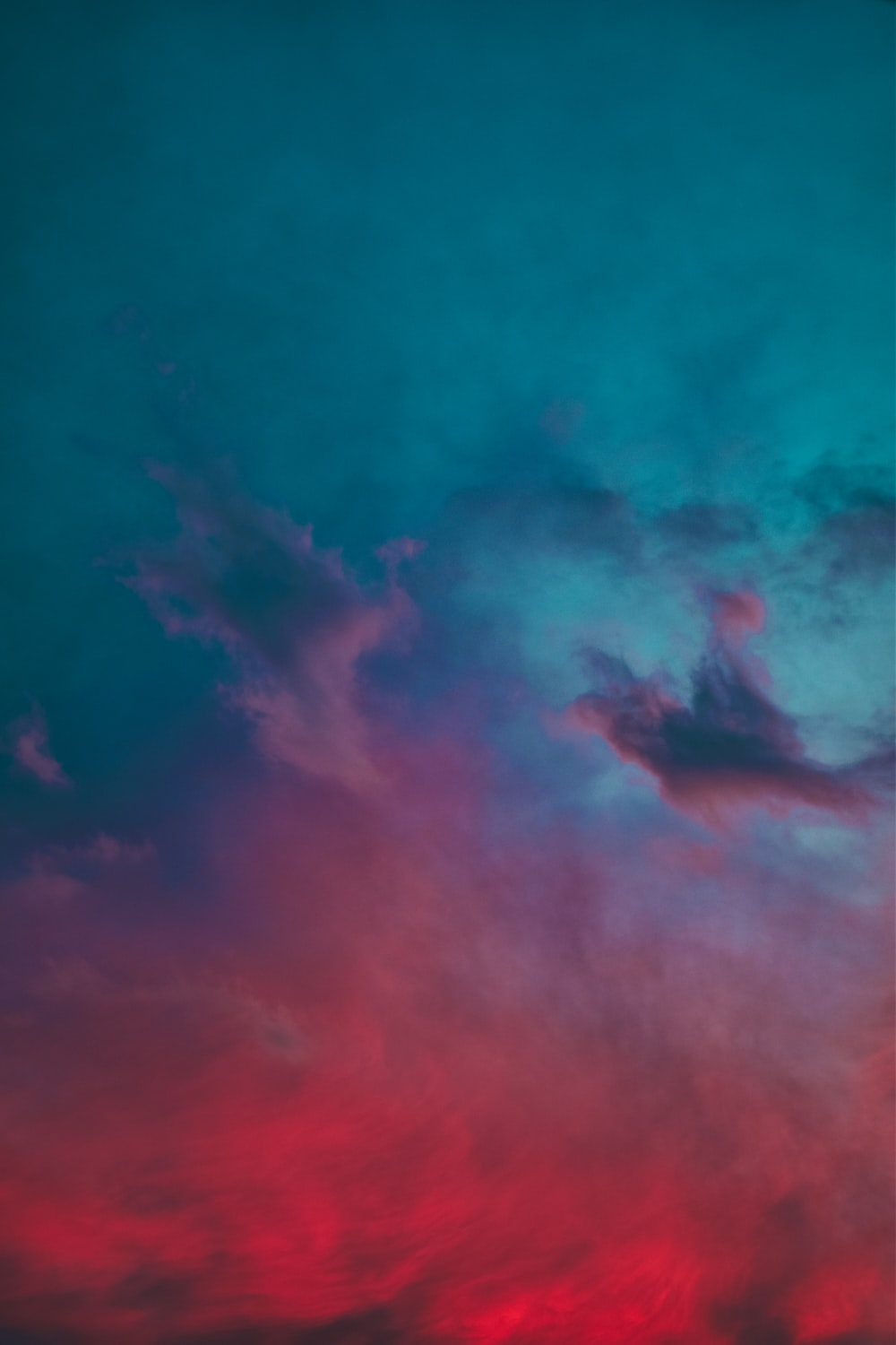 blue and pink clouds during daytime
