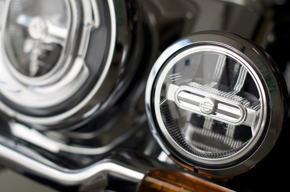 silver and black car steering wheel
