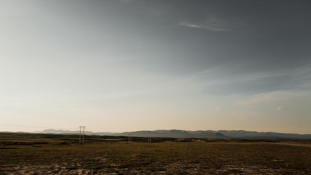white wind turbines on brown field under white sky during daytime