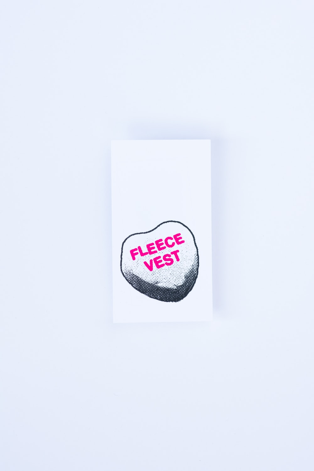 white and red heart sticker