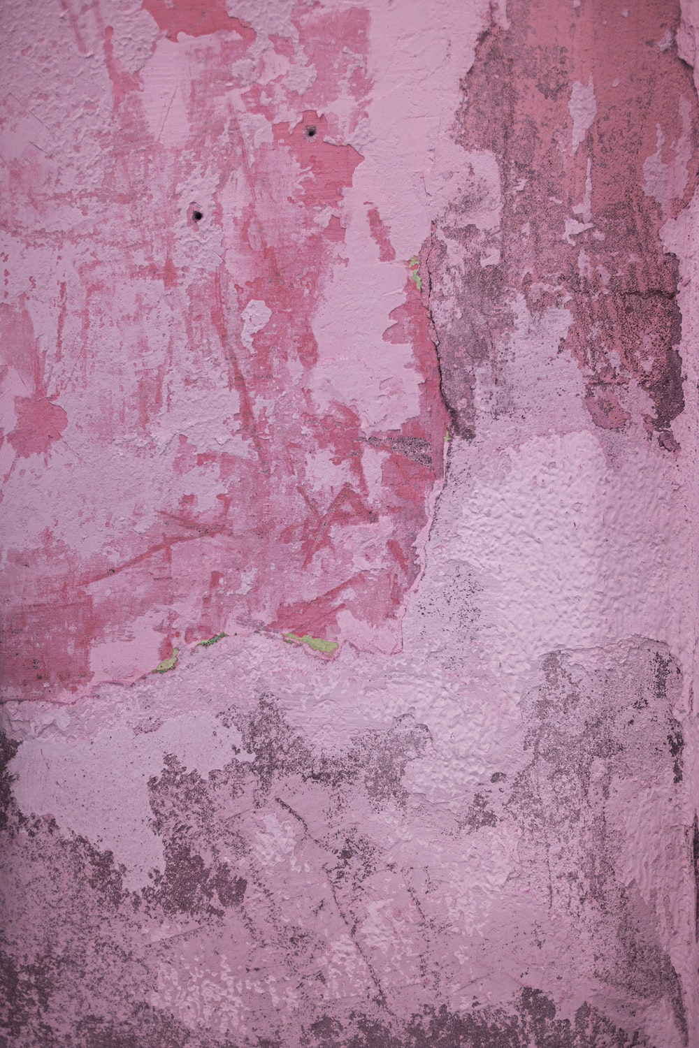 pink and white painted wall