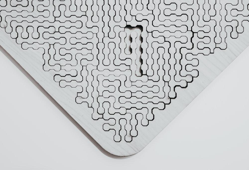 black and white heart shaped illustration