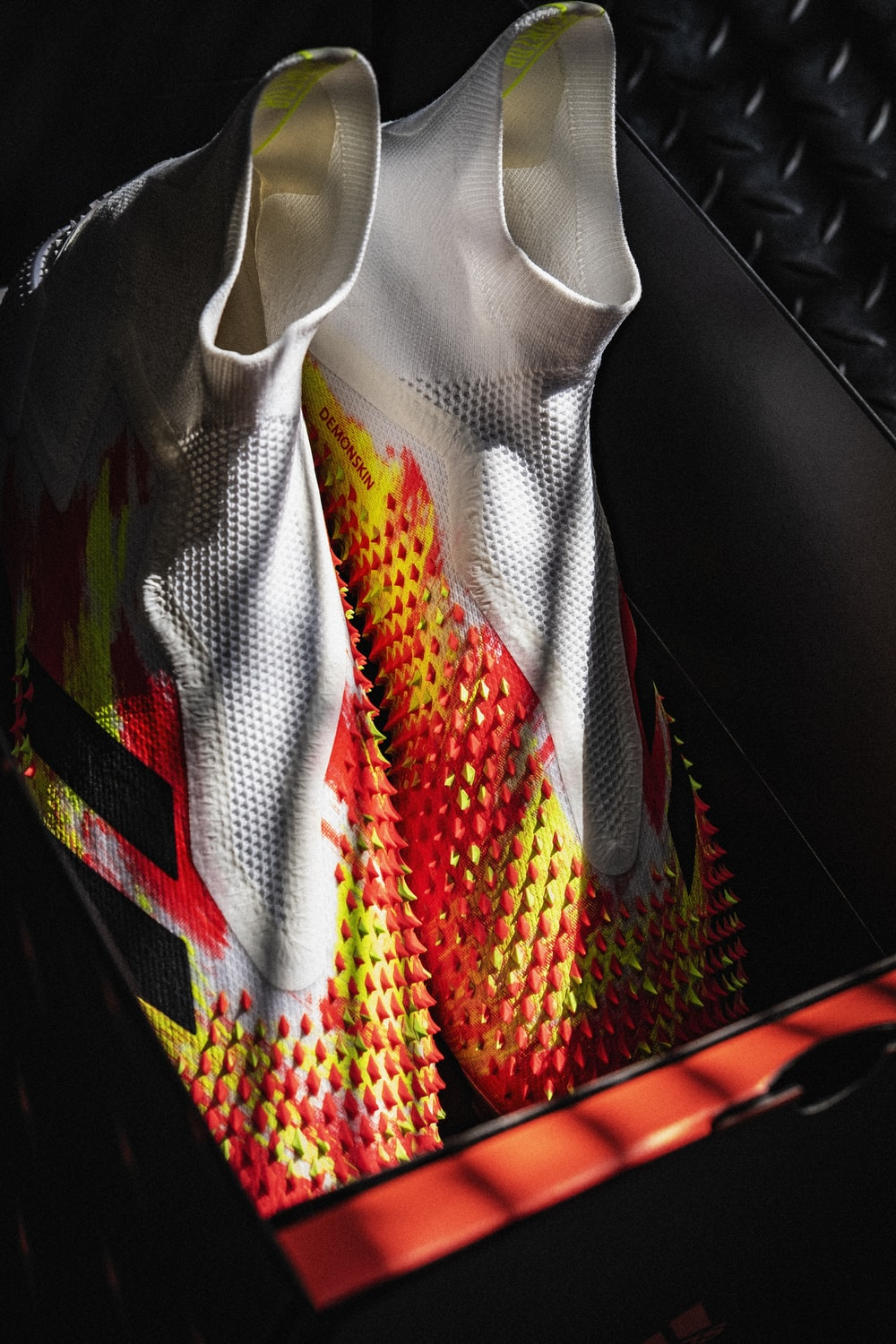 red yellow and green textile