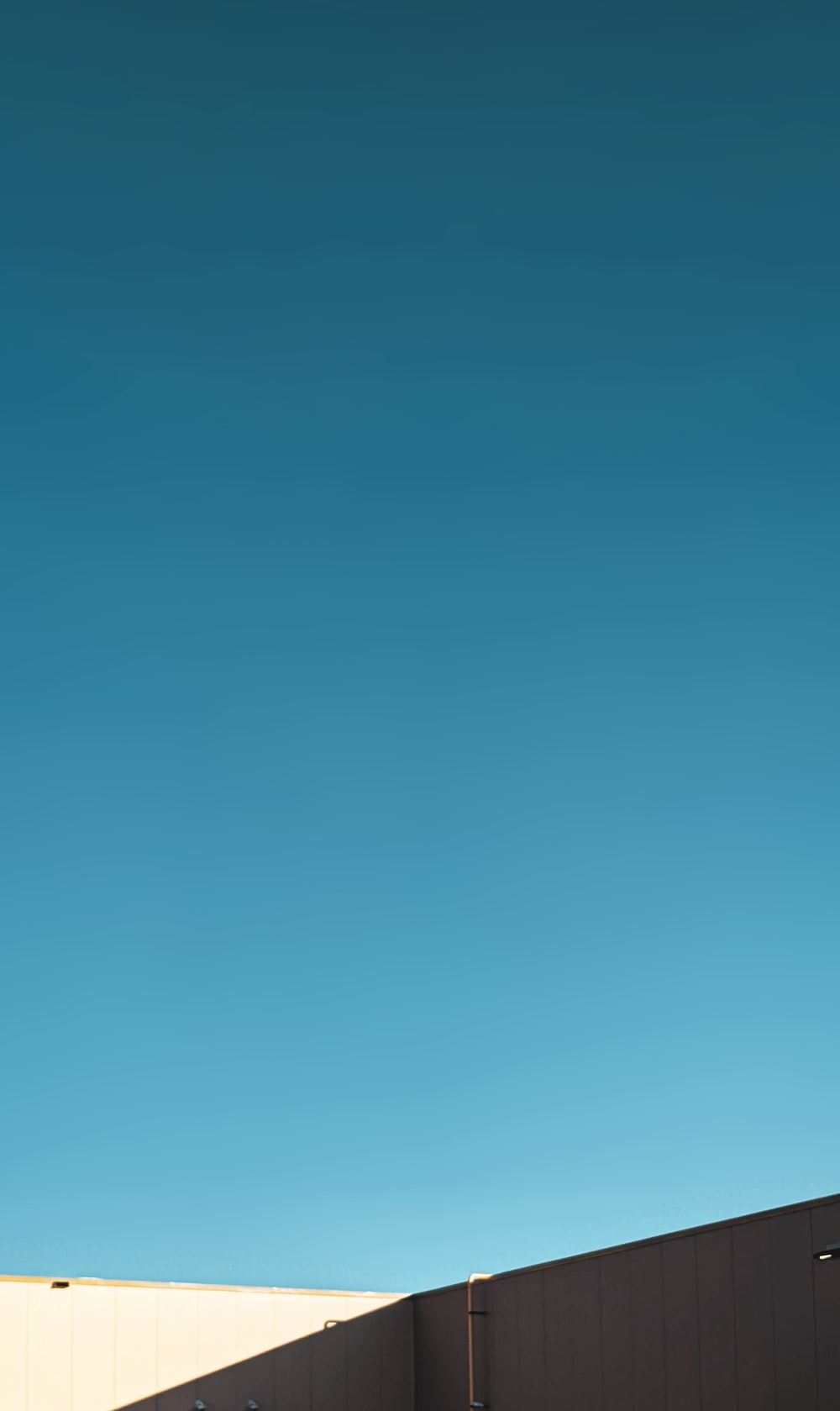 blue sky over the city