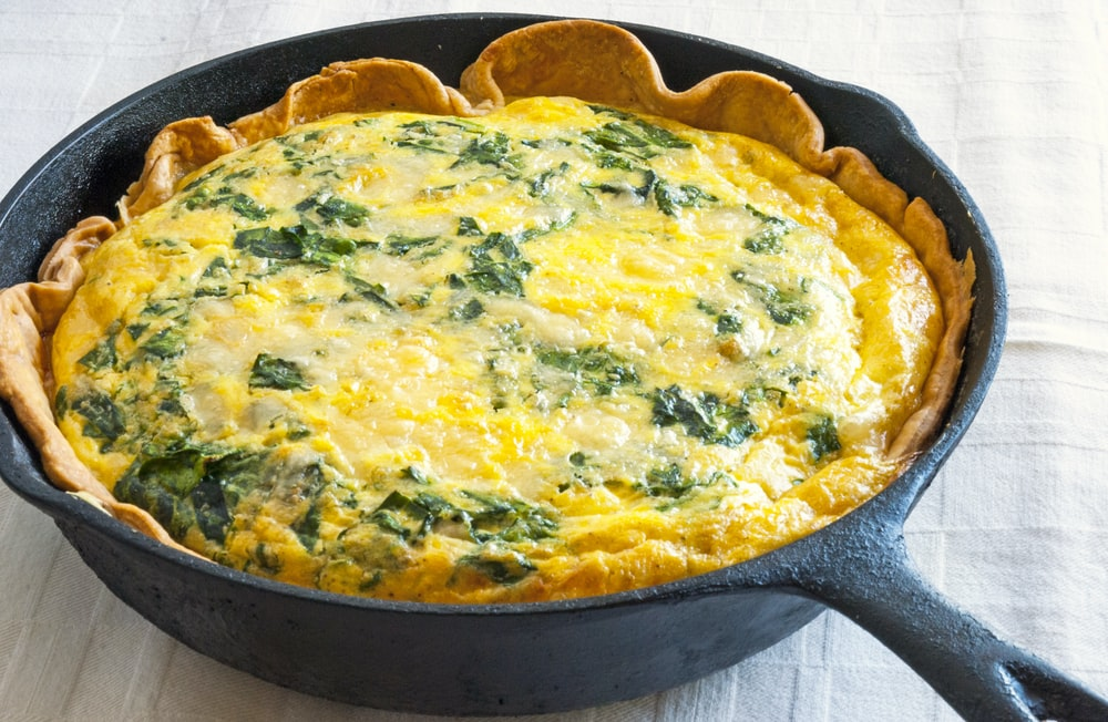 Sweet Italian Sausage and Spinach Quiche