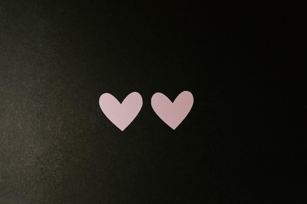 black and white heart print textile