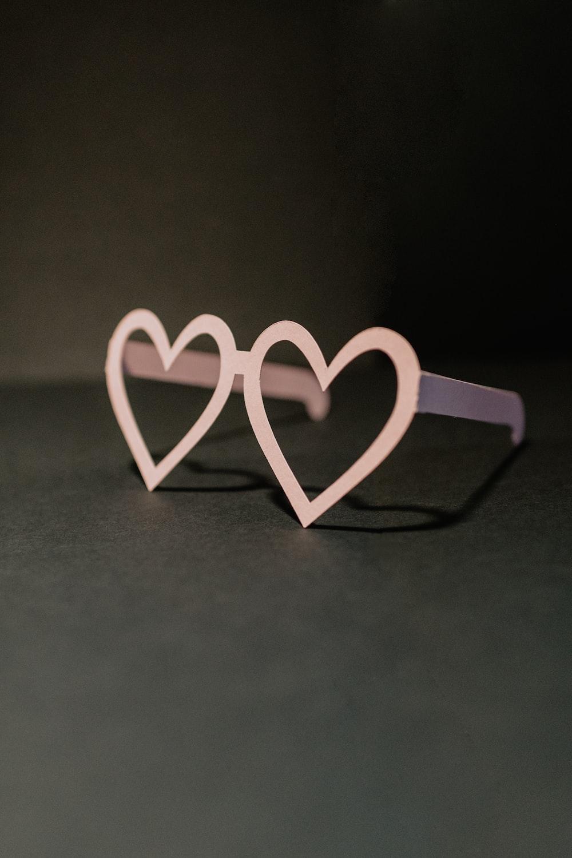 white love letter on gray surface