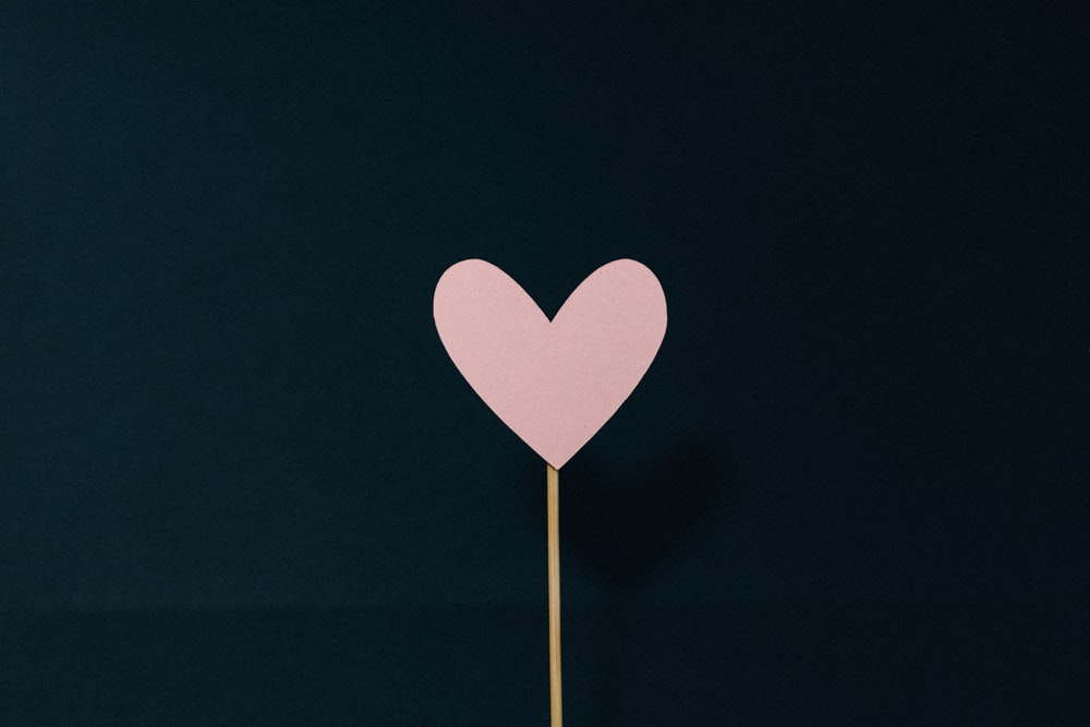 heart shaped pink and white hearts illustration